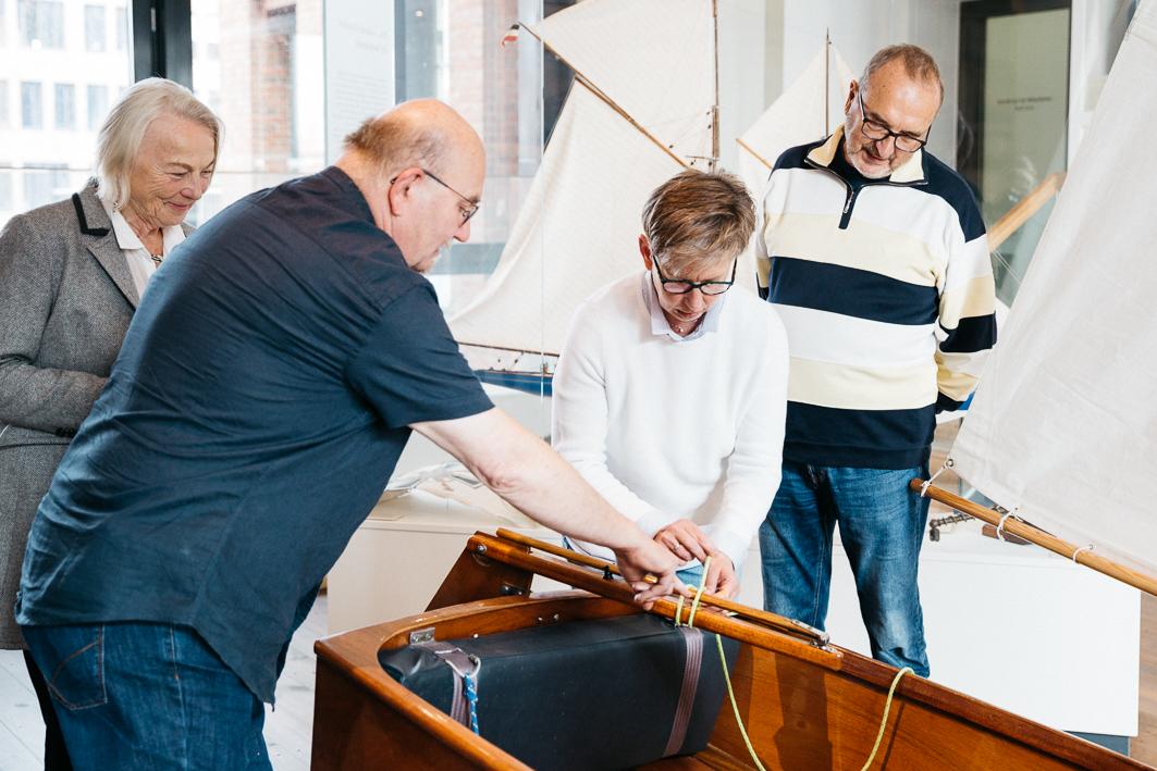 Besucher bei der Kaleidoskop-Führung im Internationale Maritimen Museum. Foto: Hanna Lenz