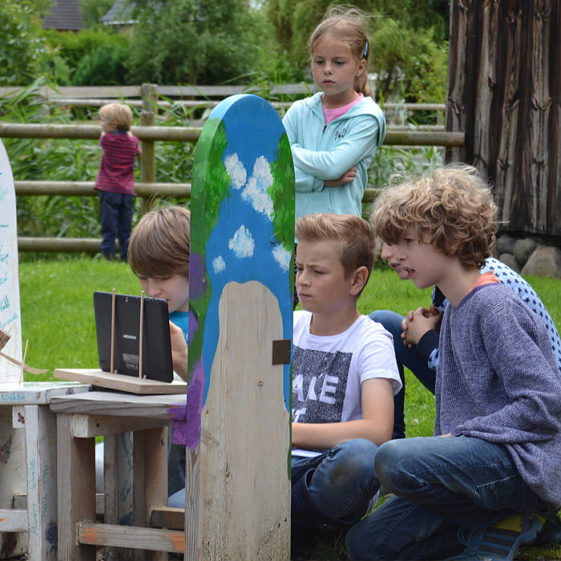 Kinder beim Film-Workshop. Copyright Bergedorfer Museumslandschaft