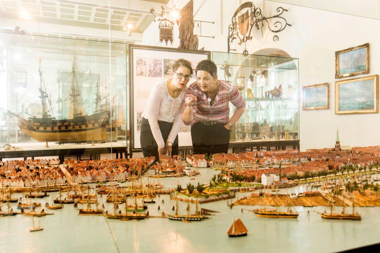 Modell des Hamburger Hafens 1844