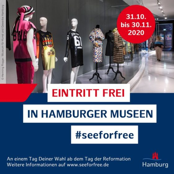 Flyer von #seeforfree, © Henning Rogge, Museum für Kunst und Gewerbe