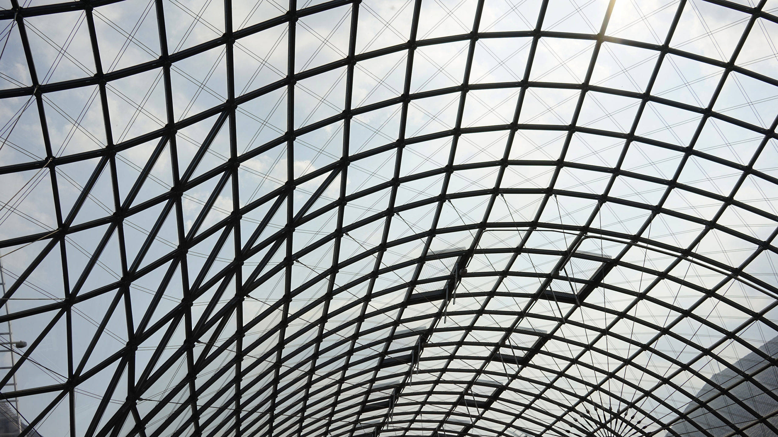 Glasdach des Innenhofs, Museum für Hamburgische Geschichte