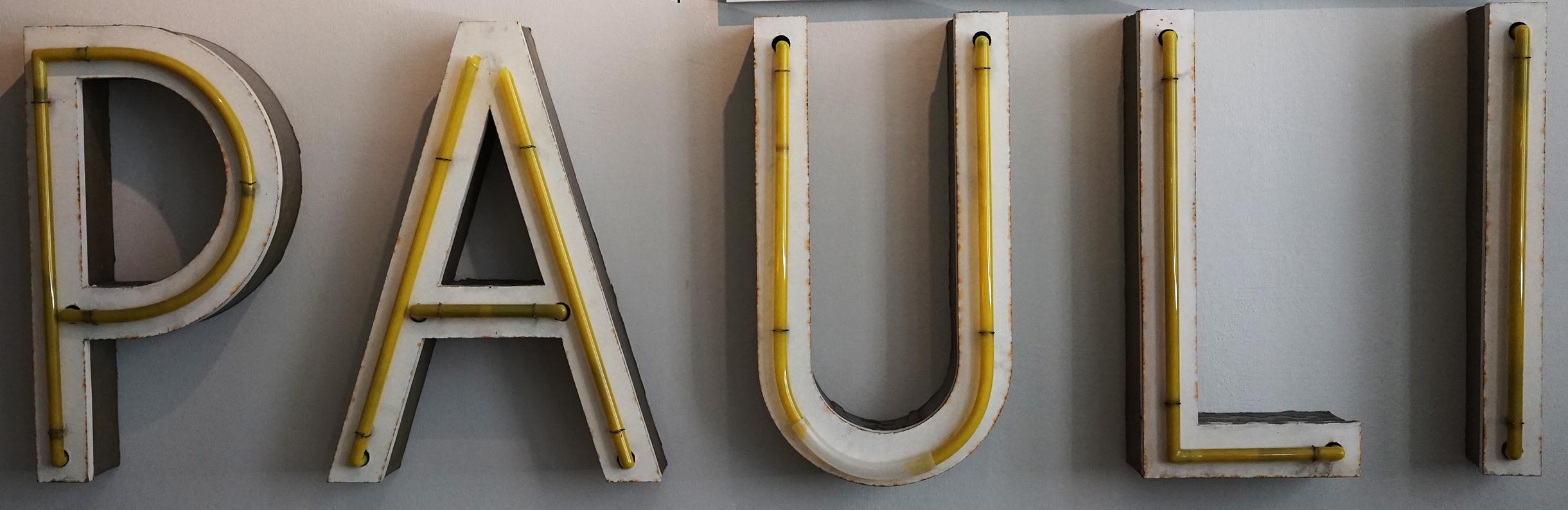 Leuchtbuchstaben, St. Pauli Theater Spielbudenplatz, um 1965, Museum für Hamburgische Geschichte