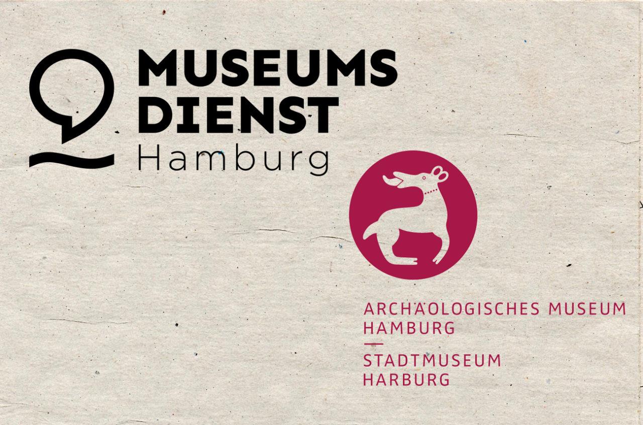 Logo vom Museumsdienst Hamburg und vom Acrhäologischen Museum Hamburg, Stadtmuseum Harburg