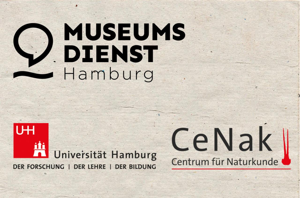 Logos vom Museumsdienst und vom CeNak Centrum für Naturkunde der Uni Hamburg