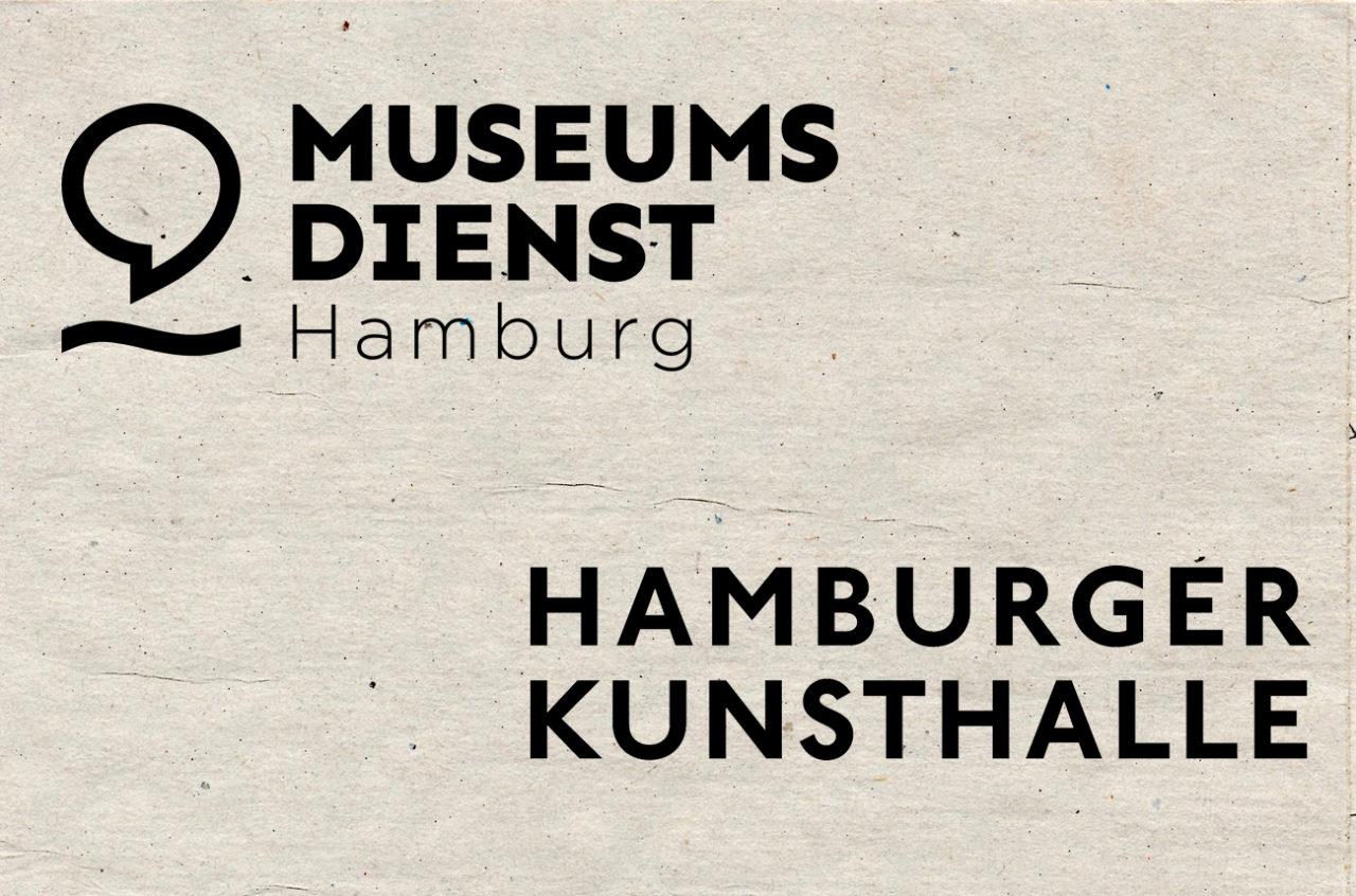 Logo vom Museumsdienst Hamburg, Logo von der Hamburger Kunsthalle