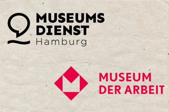 Logo vom Museumsdienst Hamburg und Logo vom Museum der Arbeit