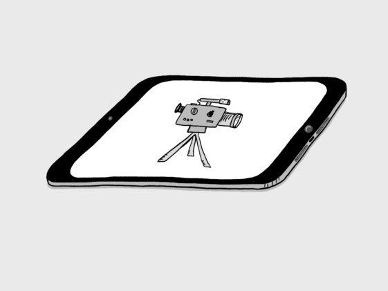 Die Zeichnung eines Tablets